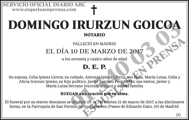 Domingo Irurzun Goicoa